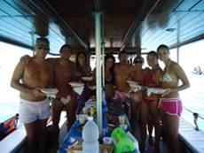 pranzo a bordo Lampedusa